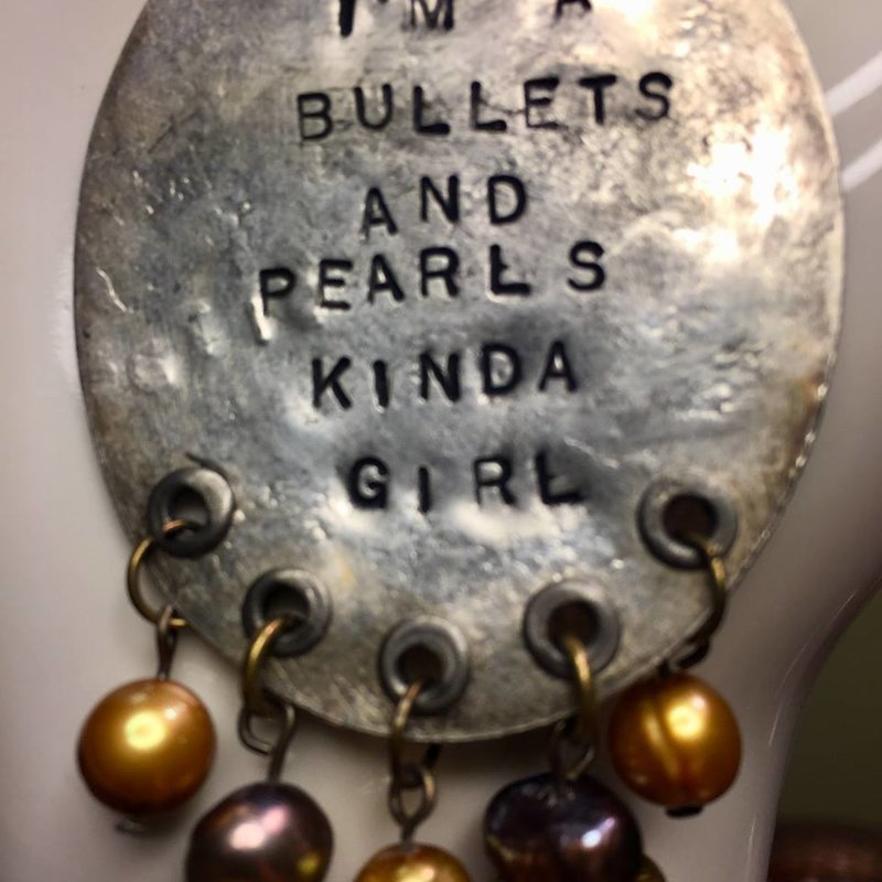 SOLD Bullets and Pearls Smashed Spoon (Large)
