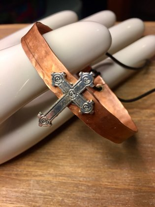 Hammered Adjustable with Cross