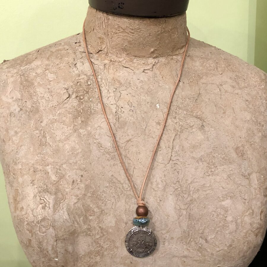 Sterling Silver Handmade Necklace with 1948 Shilling Coin