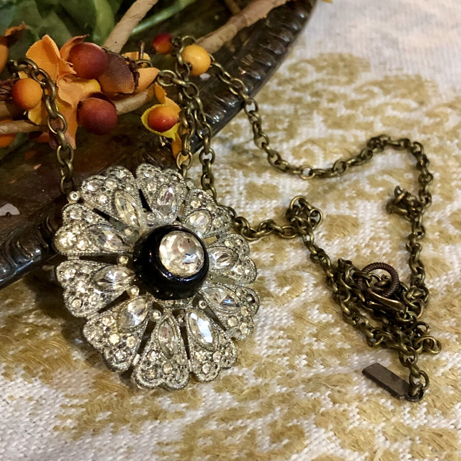 Sparkles Necklace made from Found Objects