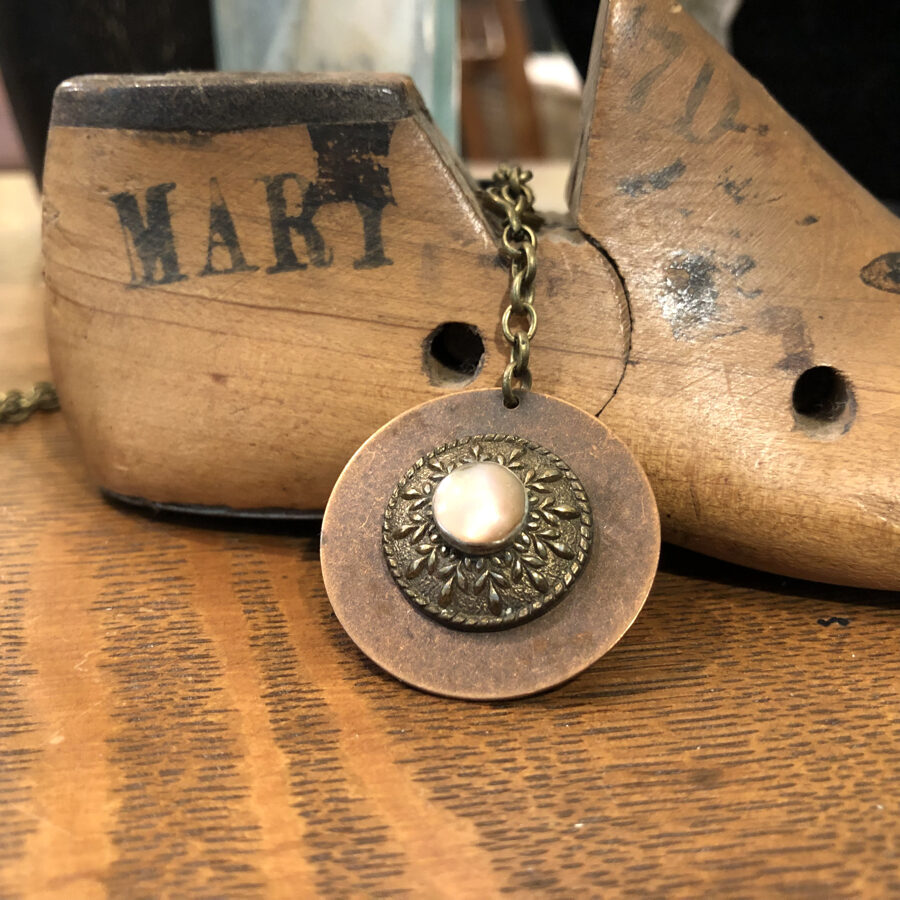 Mixed-Metal Necklace with Vintage Elements