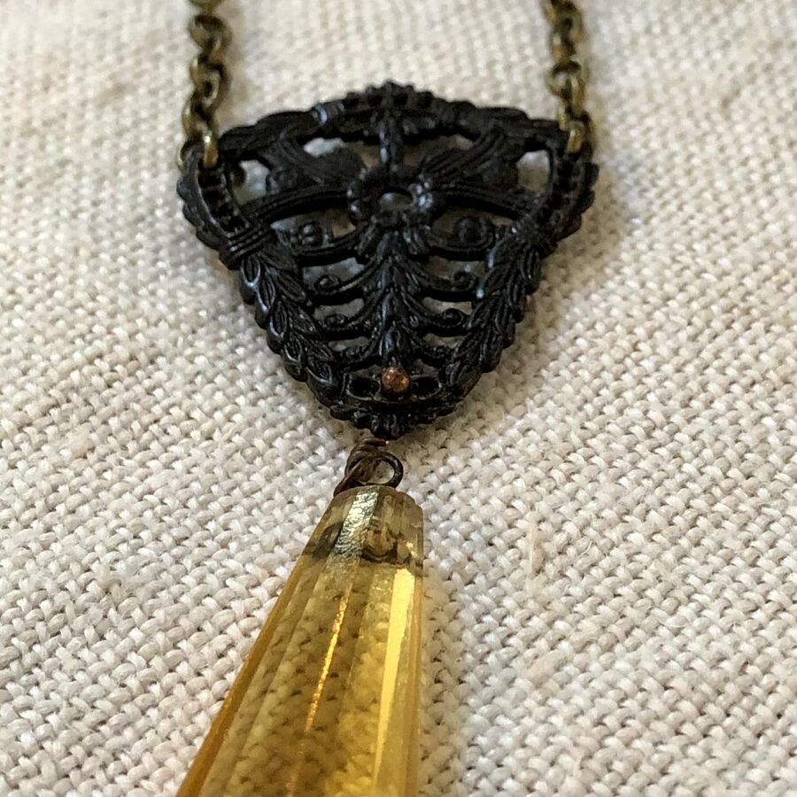 Fall Necklace with Vintage Elements