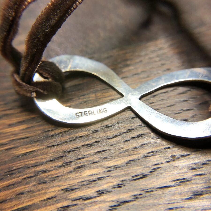 Boho Sterling Silver Infinity Bracelet