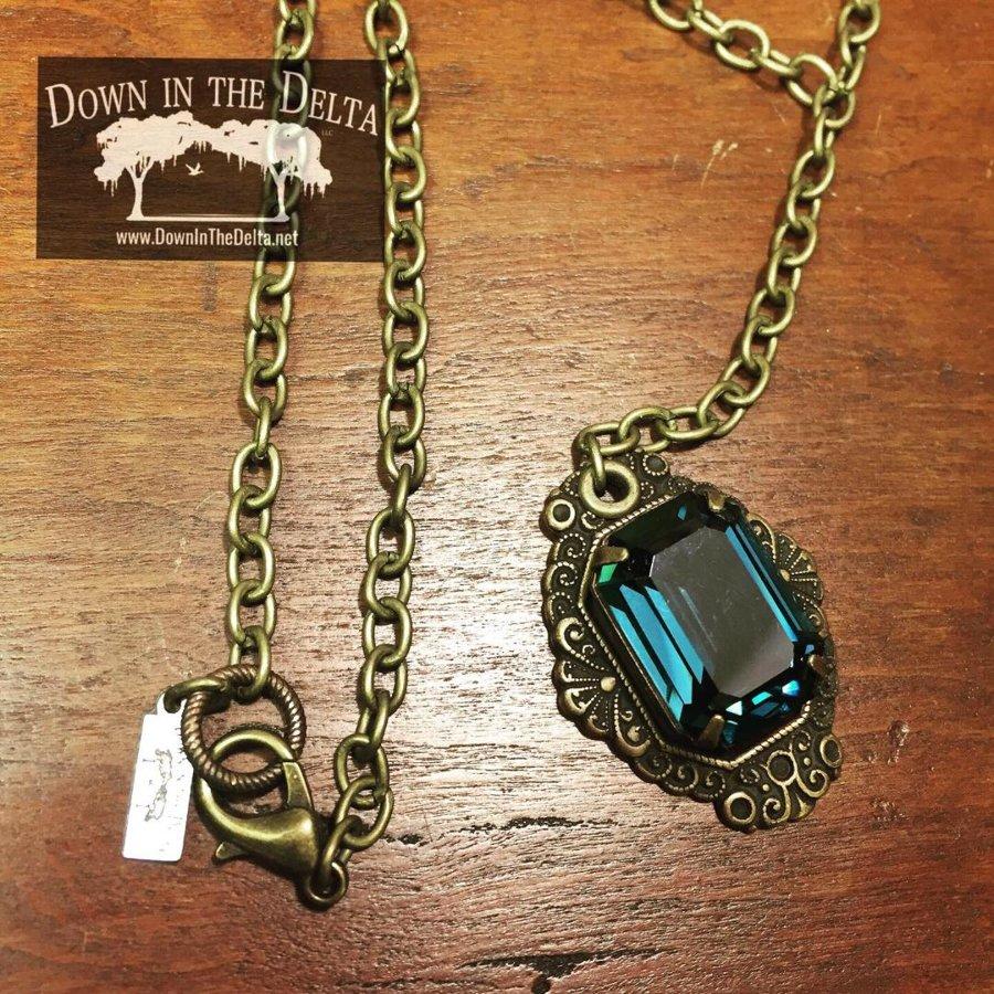 SOLD Montana Blue Swarovski Crystal Necklace