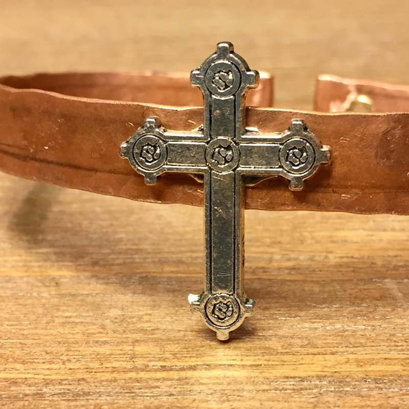 SOLD Hammered Adjustable with Cross