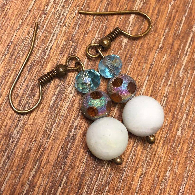Earrings with Amazonite Beads