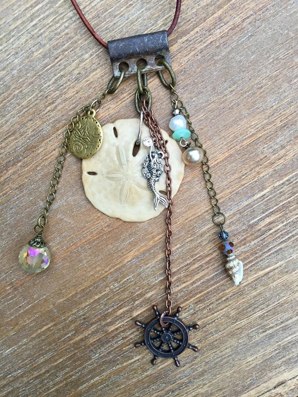 SOLD Treasures from the Sea Featuring Natural Sand Dollar #3