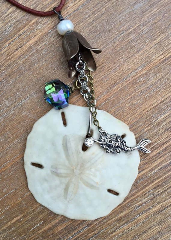 SOLD Treasures from the Sea Featuring Natural Sand Dollar #2