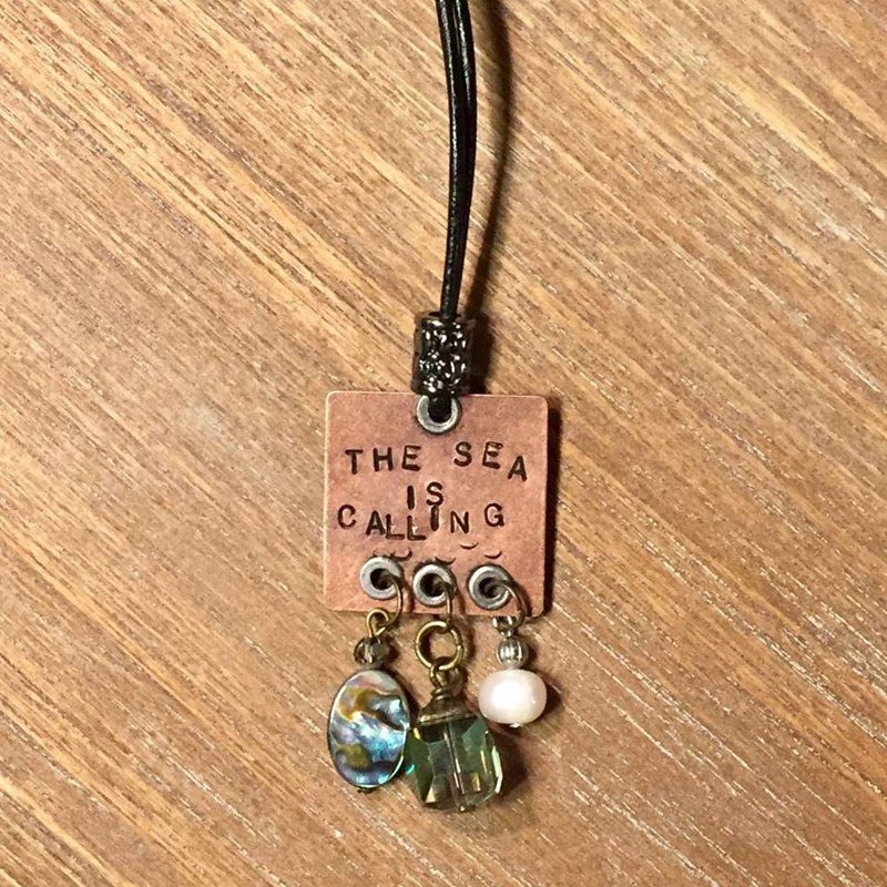 SOLD Mermaids Stamped Necklace #1
