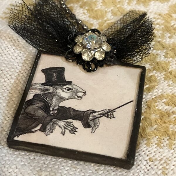 Vintage Necklace by Judy Pimperl - Rabbit Conductor